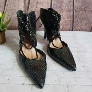 Topshop Womens Leather Snakeskin High Heels Size37